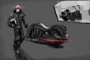 Sci-Fi Biker... by Dark-Indigo