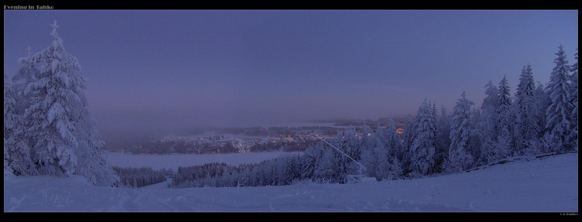 Evening in Tahko by G-Dmitry