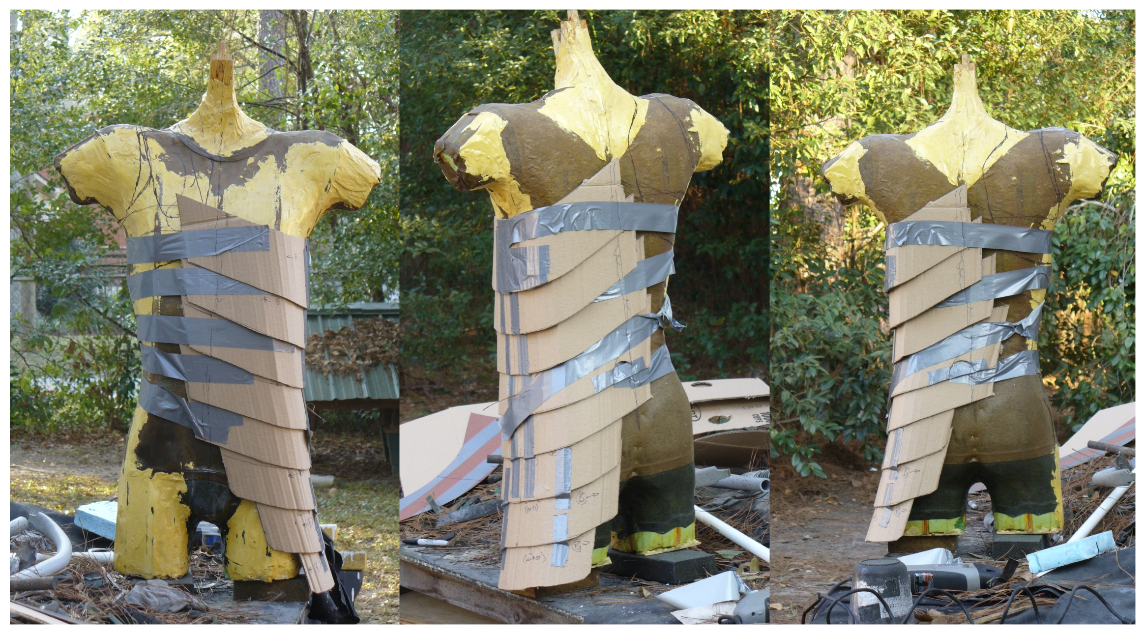 Armor mine cardboard mockup of torso lames by for Cardboard armour template