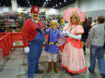 Mario, Link, and Peach