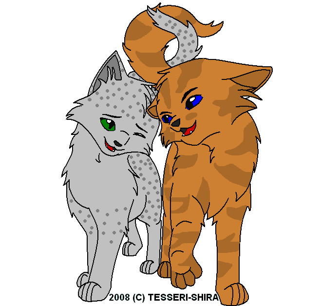 warrior cats wallpaper firestar and sandstorm