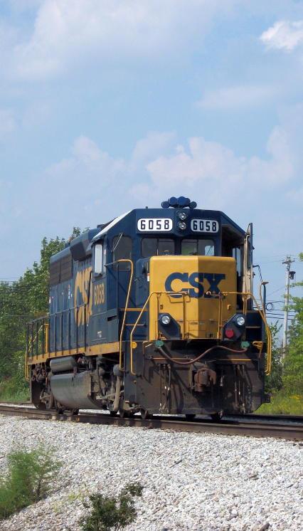 CSX GP40-2 6058