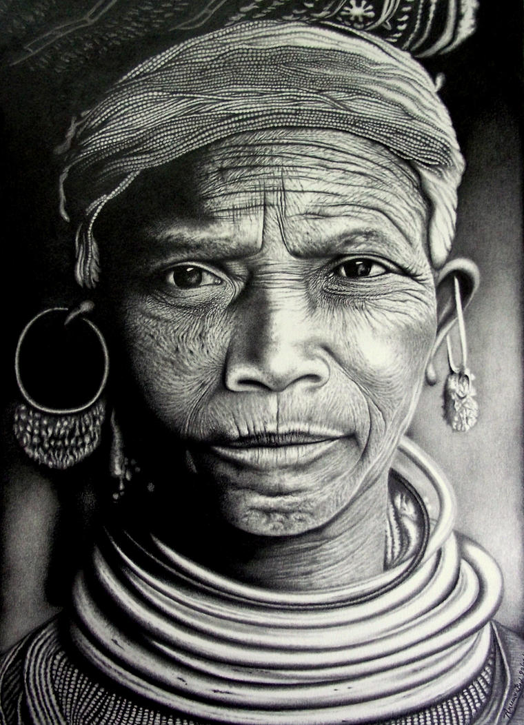 Bonda Tribe: by Arunava-Art