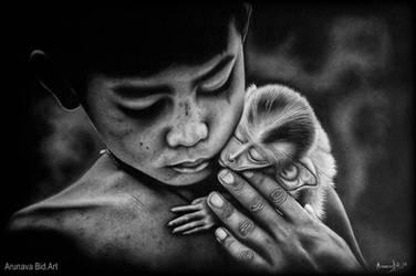 Tenderness by Arunava-Art