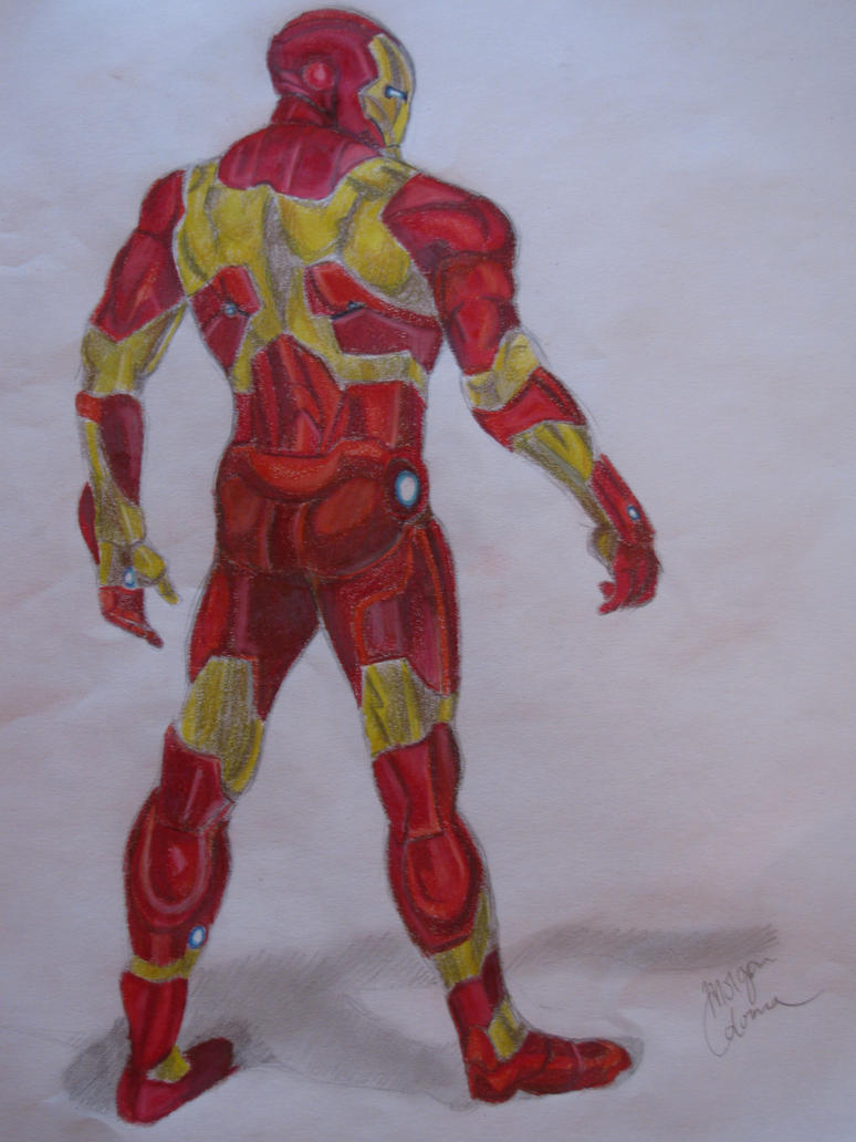 how to draw iron man 3 full body