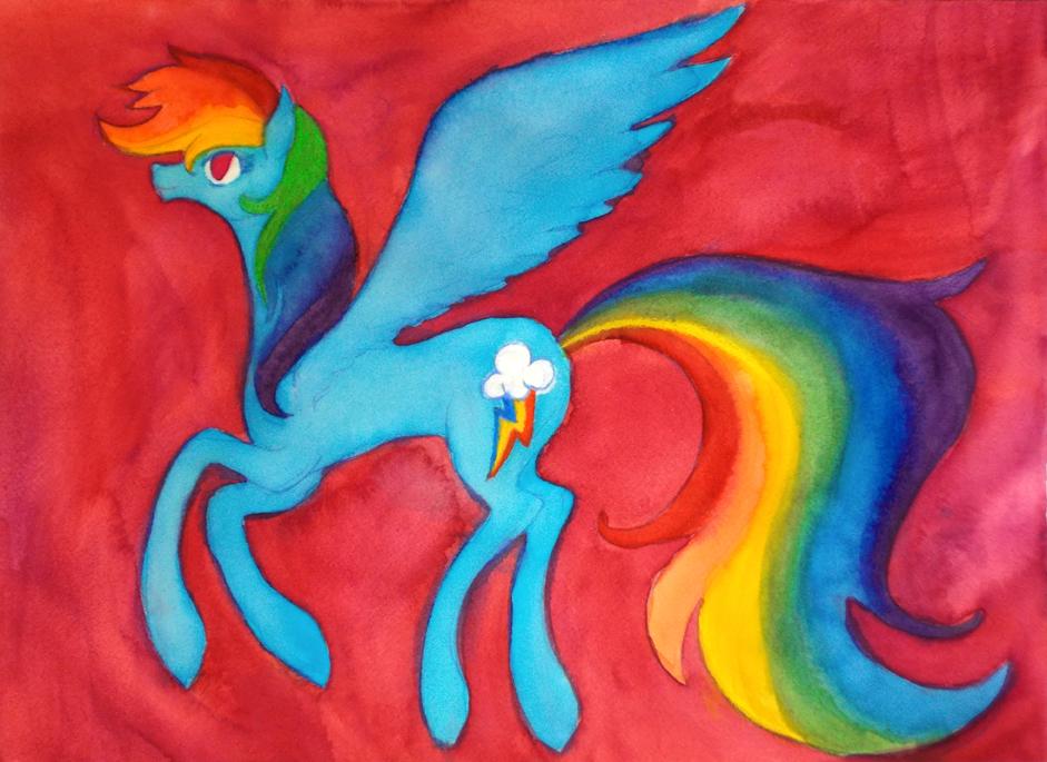 Rainbow Dash by Enuwey