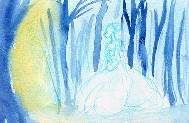 Cinderella's Ghost in the Forest by Enuwey
