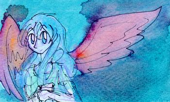 Blue Angel Doodle by Enuwey