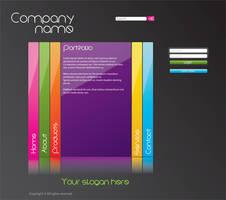 Web template - dark theme by BlueLela