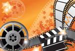 Movie background - orange