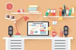 Flat Design Office Desk 02