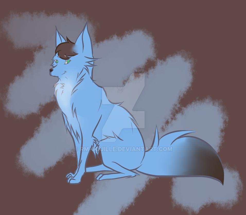 Blue fox Ayko by RM-Bouille
