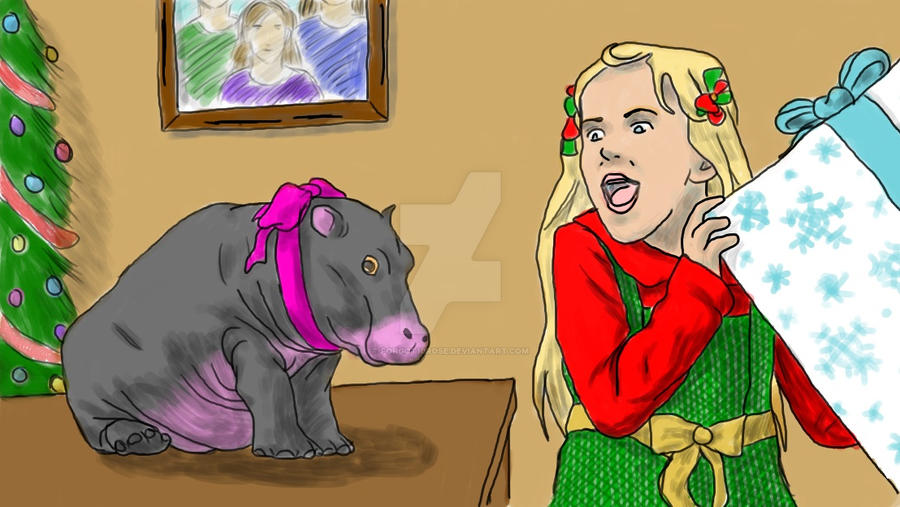 Hippo For Christmas.I Want A Hippo For Christmas By Forgot10rose On Deviantart