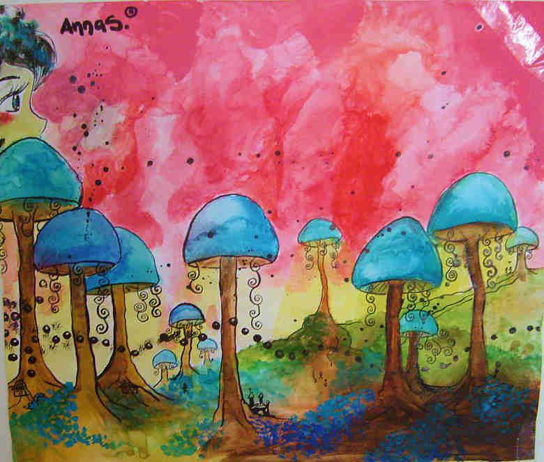 magic mushroom art - photo #14