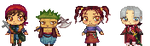 PixelChibi Fanart : The whole Dragon Quest 8 Party by Drawlia1