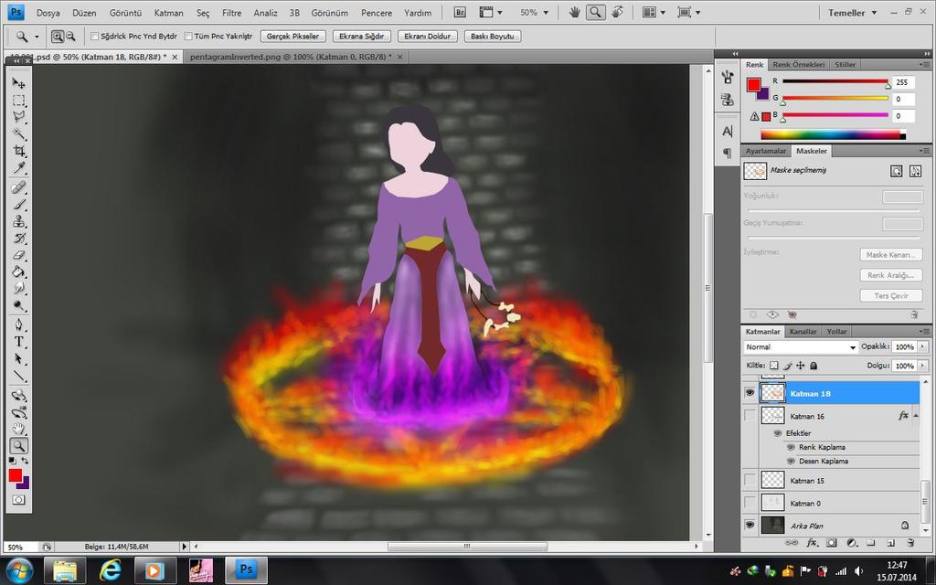 magical fire by GirlOfTheOcean