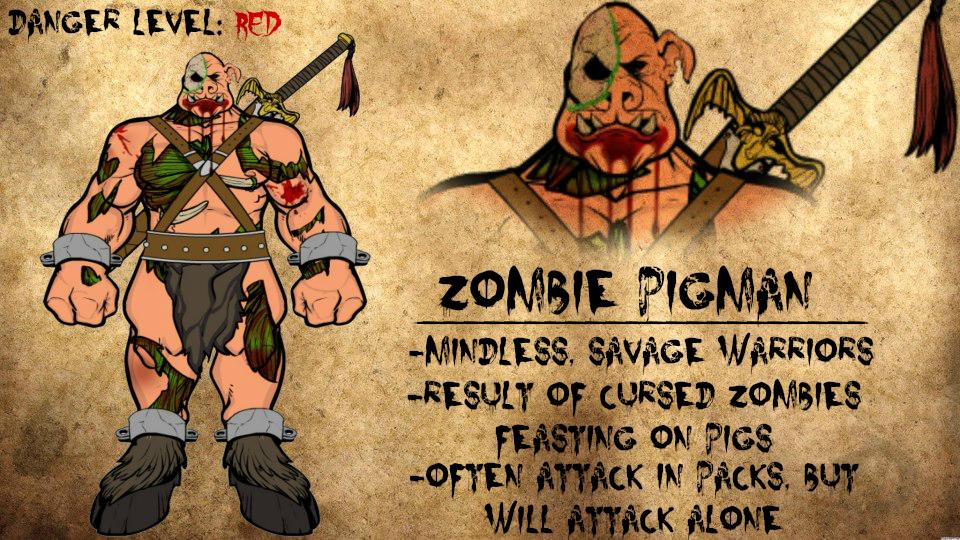 Minecraft Zombie Pigmen In Real Life Zombie pigman journal entry byReal Life Minecraft Zombie Pigman