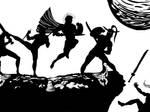 Battle Scene I: Spartan by Vectorman316