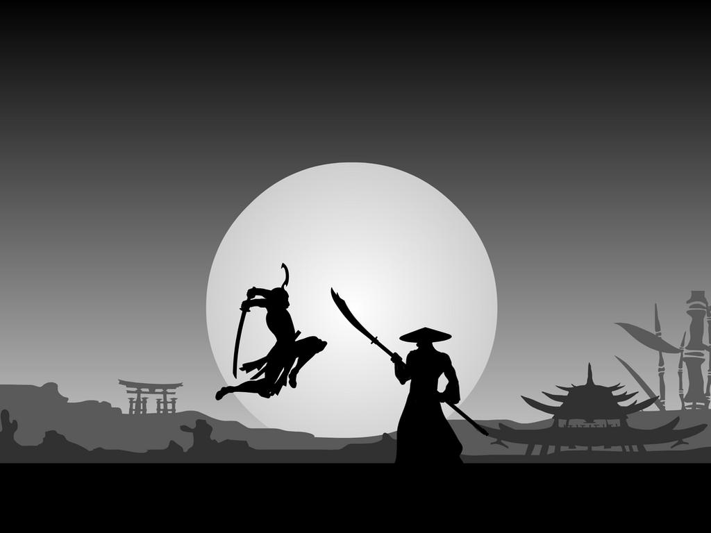 Battle Scene II: Samurai by Vectorman316