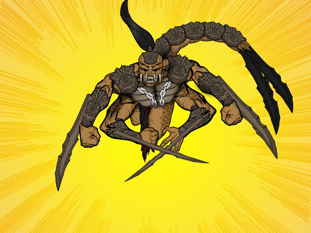 King Scorp Action Shot by Vectorman316