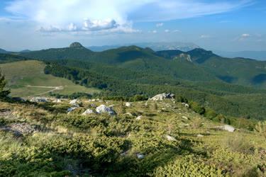 Mount Voras in Green