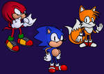 Sonic, Tails, and Knuckles