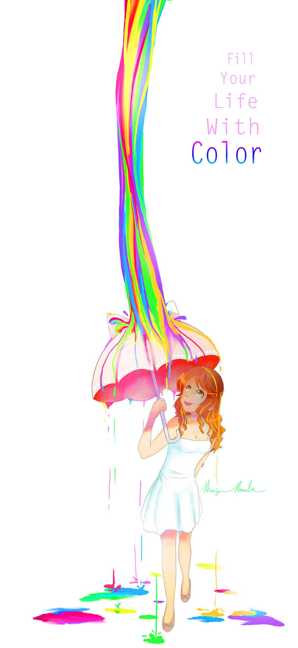 Rainbow Raindrops by Okitaru369