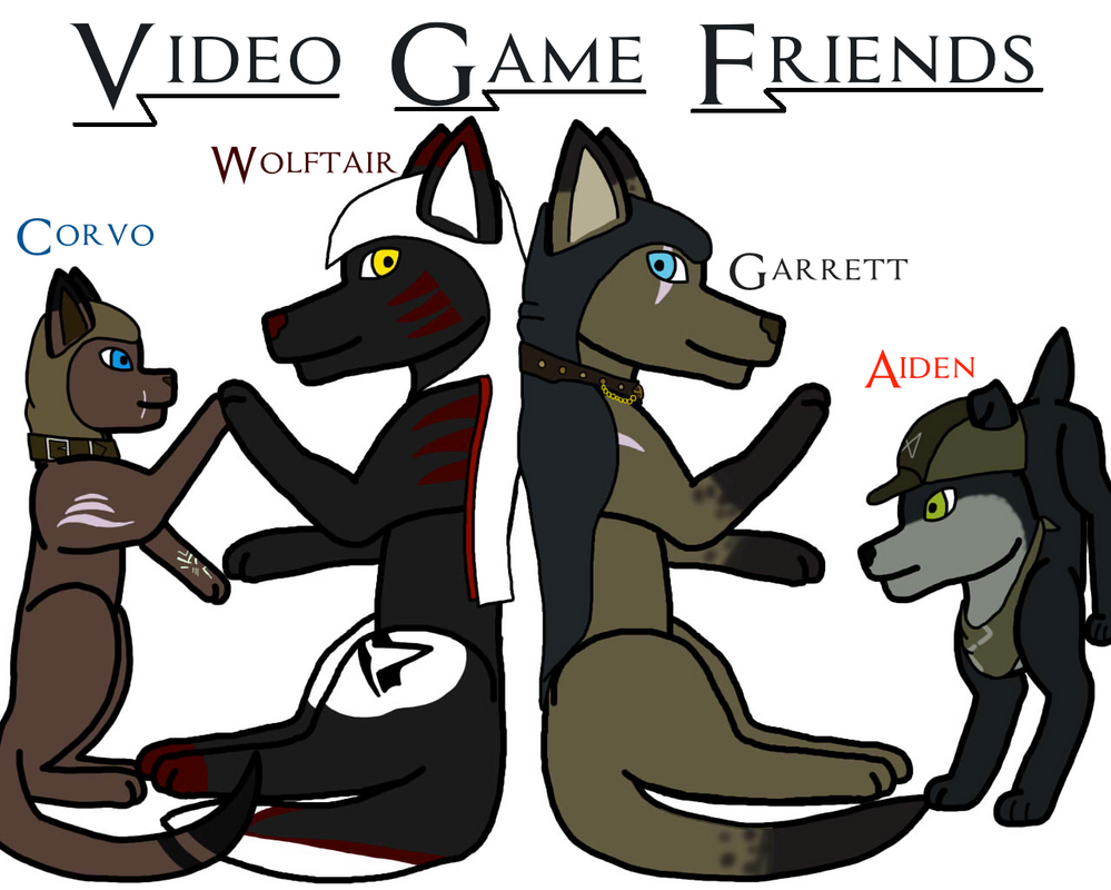 Wolftair and Friends by crisisangelwolf