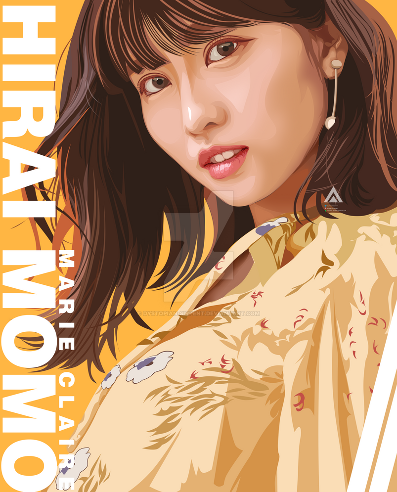 TWICE Hirai Momo Vexel FanArt by Dystopian-Sirpent