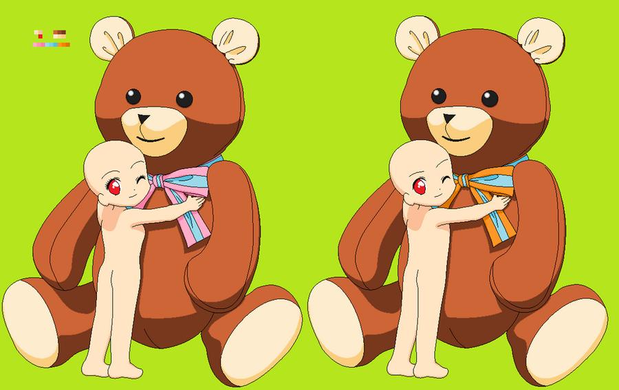 Chibi Hugging Teddy Bear Base by LoveAnime321 on DeviantArt