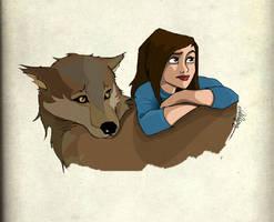 Twilight: On Jacob's fur by Loleia