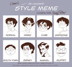 De-Anime'd Style Meme