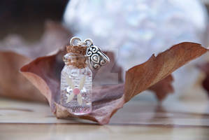 Pink Fairy Bottle Necklace Insp by Legend of Zelda
