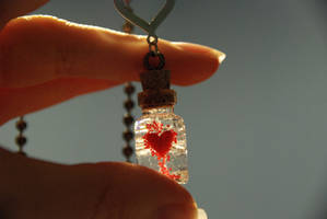 Captured Heart Necklace by IvrinielsArtNCosplay
