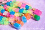 Rainbow Brite Inspired Star Sprinkle Bracelets