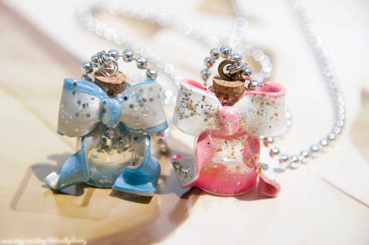 Sleeping Beauty and Cinderella themed necklaces