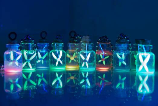 Glowing Fairy Bottles, Inspired by Legend of Zelda