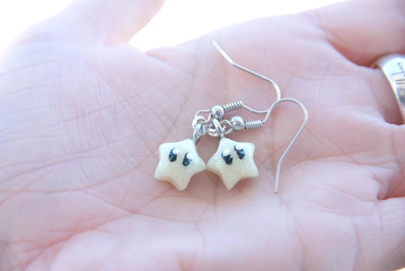 Super Mario Inspired Kawaii Star Earrings