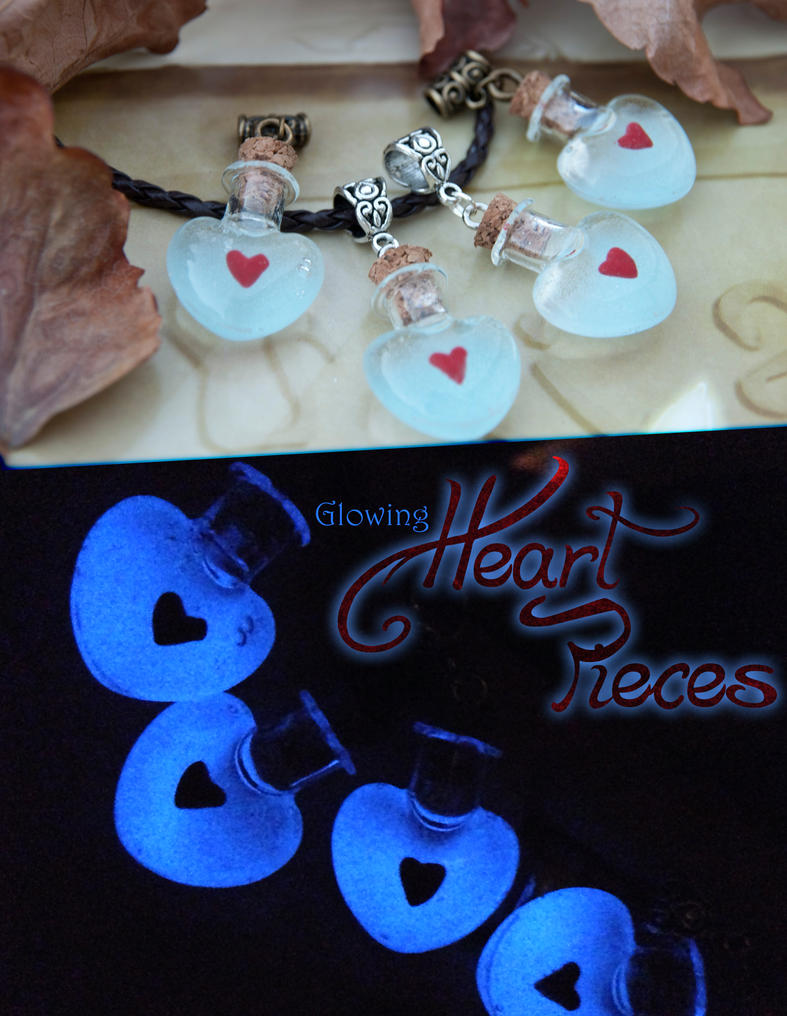 Legend of Zelda inspired Heart Piece Necklaces by IvrinielsArtNCosplay