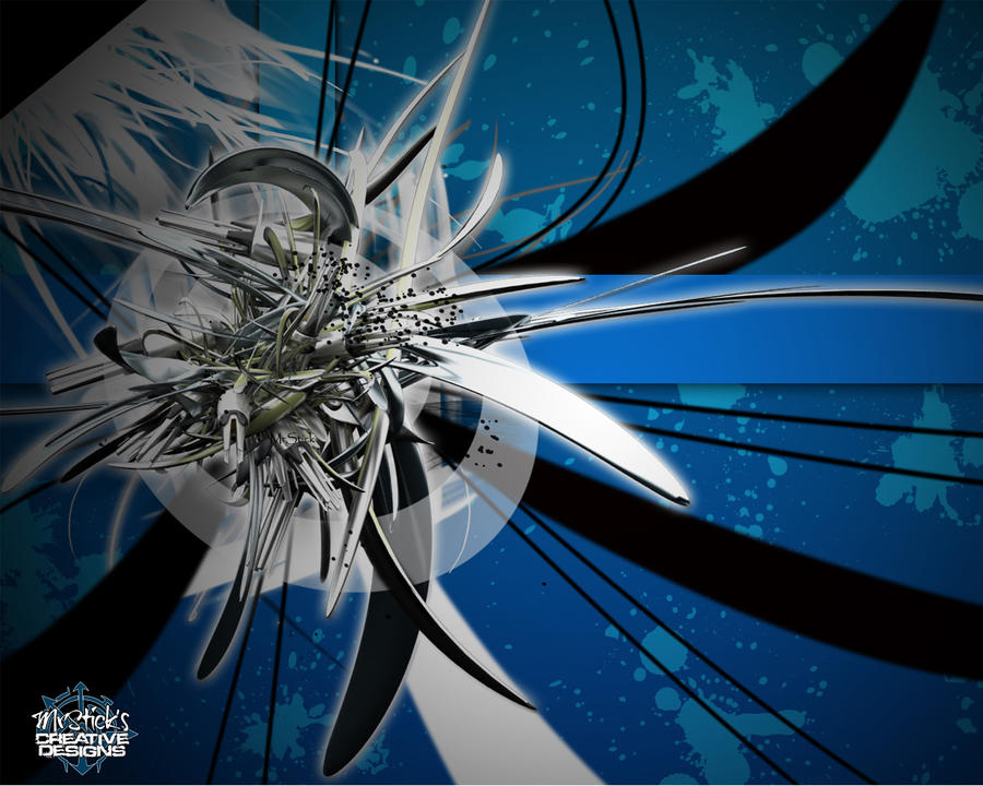 Abstract Wallpaper Blue by TheMrStick