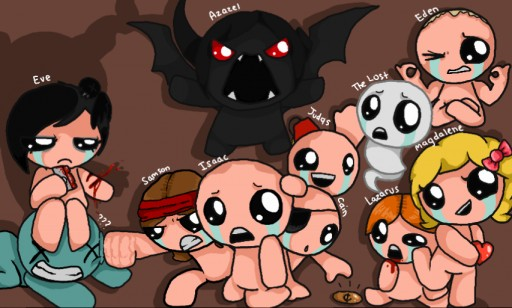 The Binding of Isaac Re-Afterbirth (ANALISÍS LOCOCHÓN) All_characters_from_the_binding_of_isaac__rebirth_by_metapuns-d8ndyow
