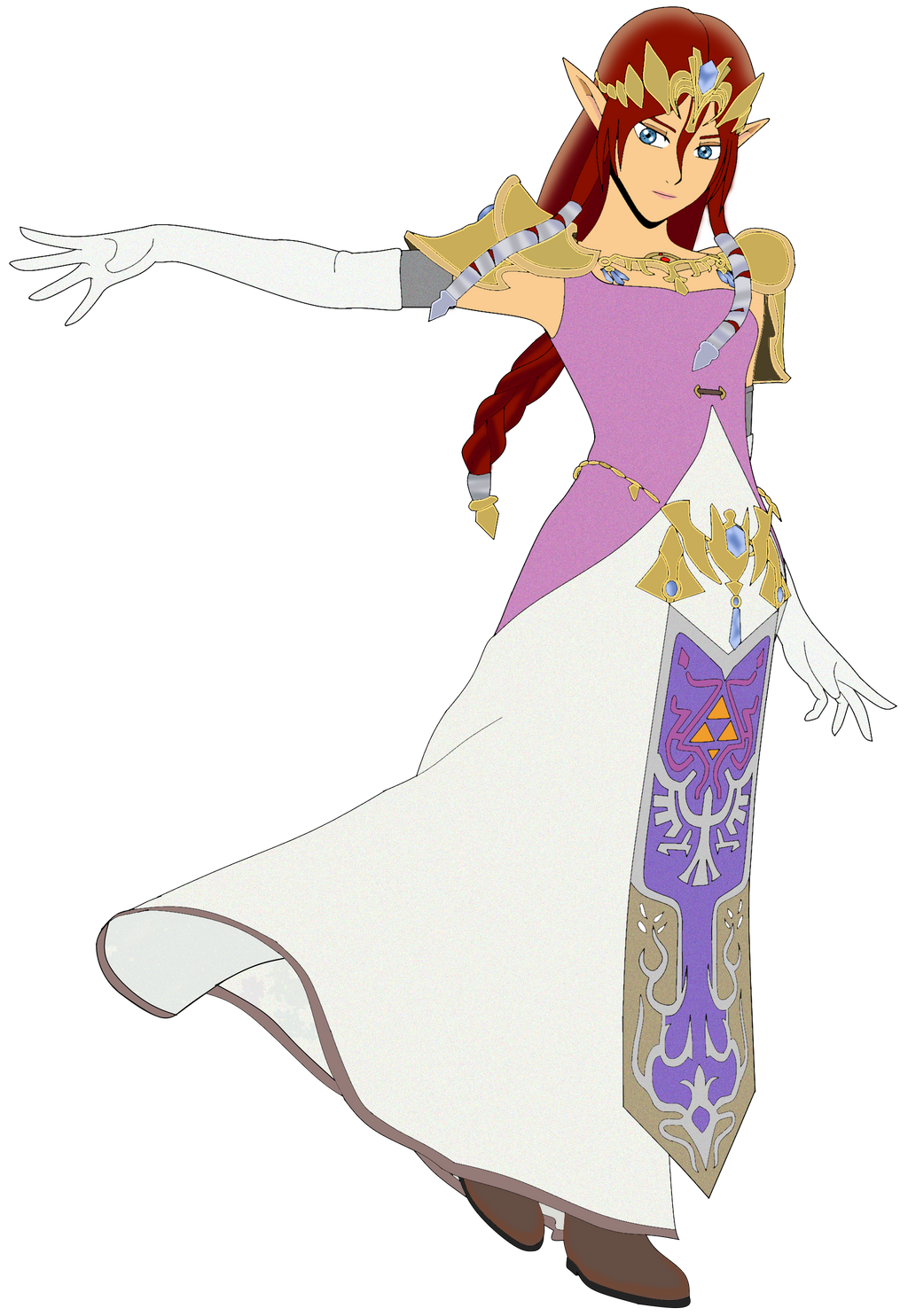 Smash Bros Collab: Emiri-Zelda by SweetScarletSky