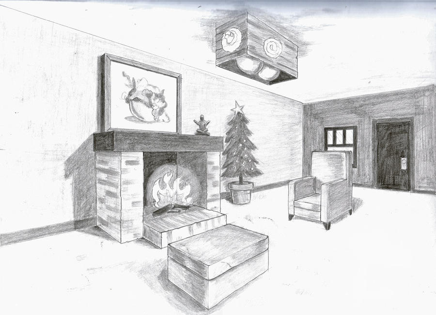 2 Point Perspective Room By A Rob On Deviantart