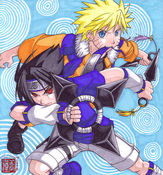 Sasuke_and_Naruto___commission_by_songosai