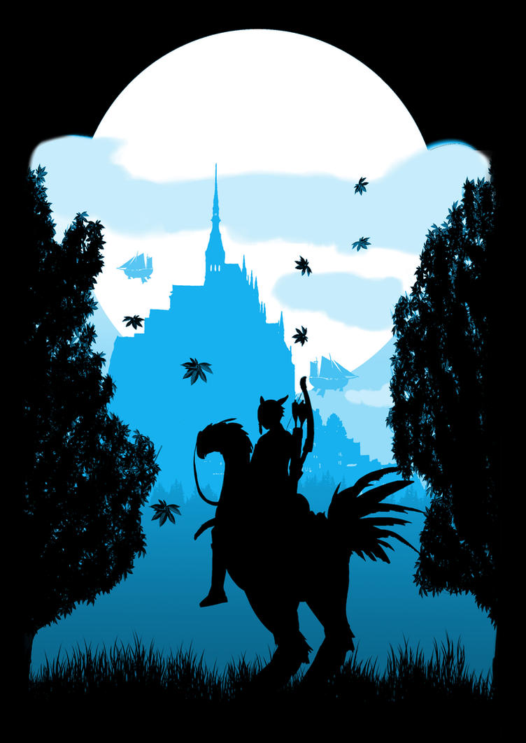 Final Fantasy - Chocobo Silhouette by FistEastwood
