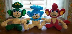Elemental Monkey Crochet Plush