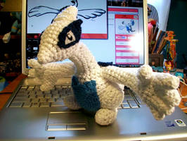 Lugia Crochet Plush by First-Mate-Kate