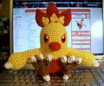 Combusken Crochet Plush