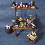 Wiccan Altar Table, 1:12 scale