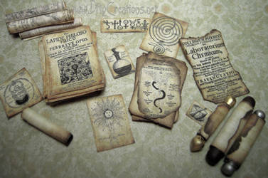 Miniature Parchments and Scrolls